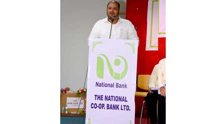 Hon'ble Chairman Shri S. T. Kharmate addressing the shareholders at the Bank's 72nd AGM